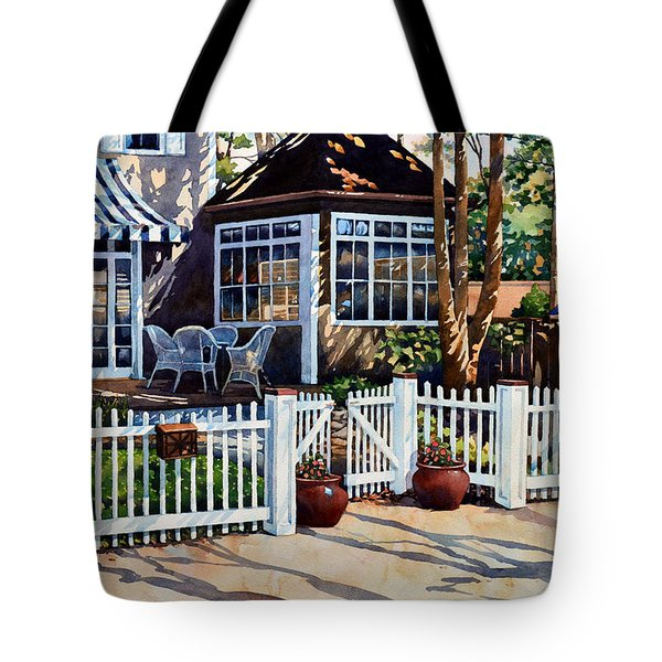 Just Beyond The Pickets Tote Bag