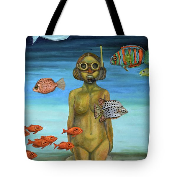 Just Breathe Tote Bag by Leah Saulnier The Painting Maniac