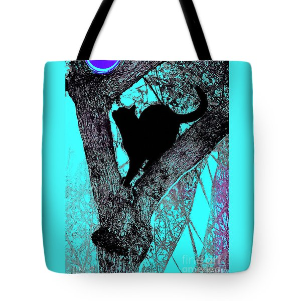 Fauve Cat And Moon Tote Bag