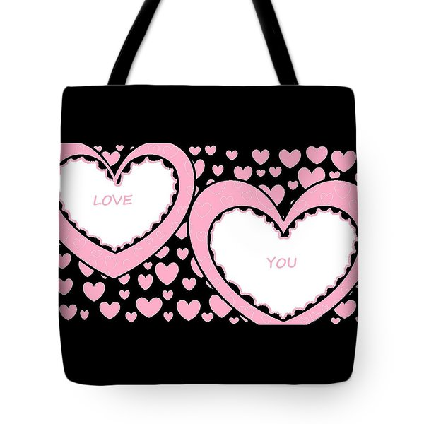 Just Hearts 2 Tote Bag by Linda Velasquez