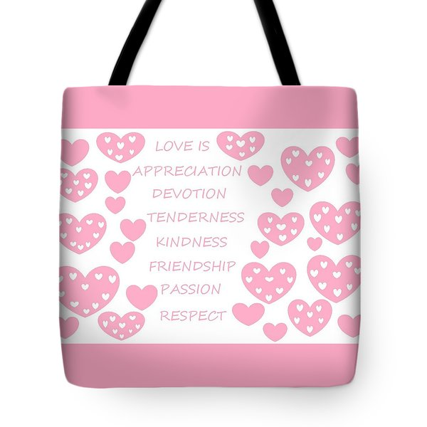 Just Hearts 3 Tote Bag by Linda Velasquez