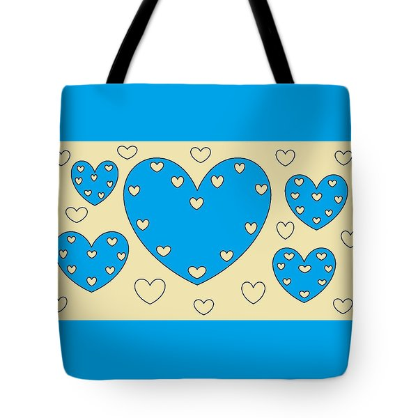 Just Hearts 4 Tote Bag by Linda Velasquez