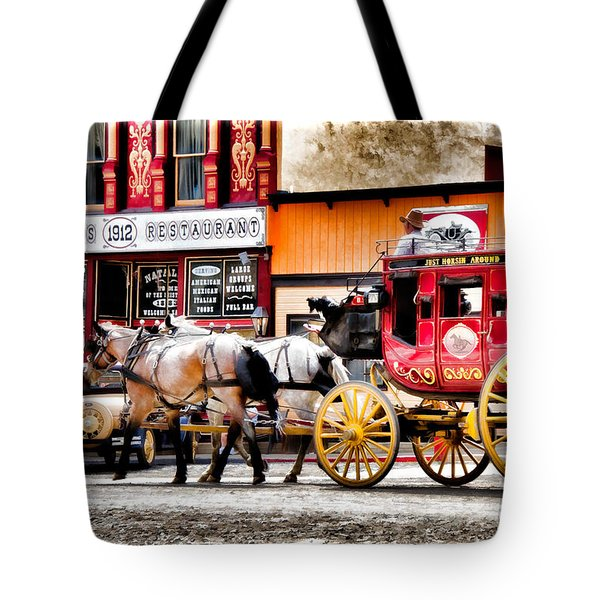 Tote Bag featuring the photograph Just Horsin Around by Lana Trussell