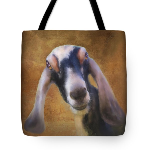 Tote Bag featuring the mixed media Just Kidding Around by Colleen Taylor