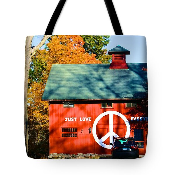 Just Love Everybody Tote Bag
