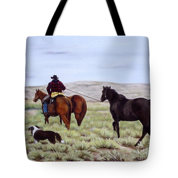 Just Might Rain Tote Bag by Mary Rogers