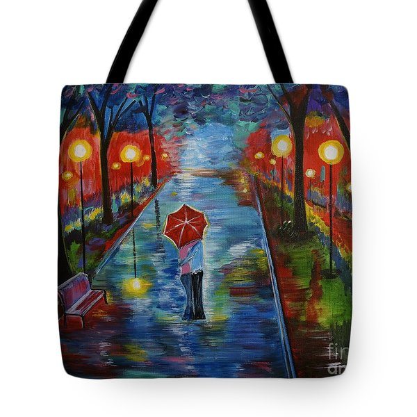 Just One Kiss Tote Bag by Leslie Allen