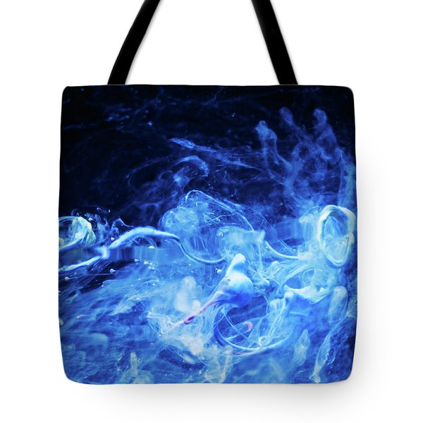 Just Passing By - Blue Art Photography Tote Bag by Modern Art Prints