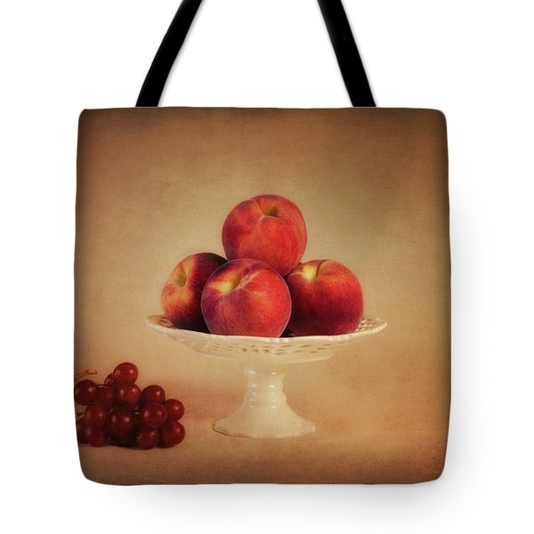 Just Peachy Tote Bag by Tom Mc Nemar