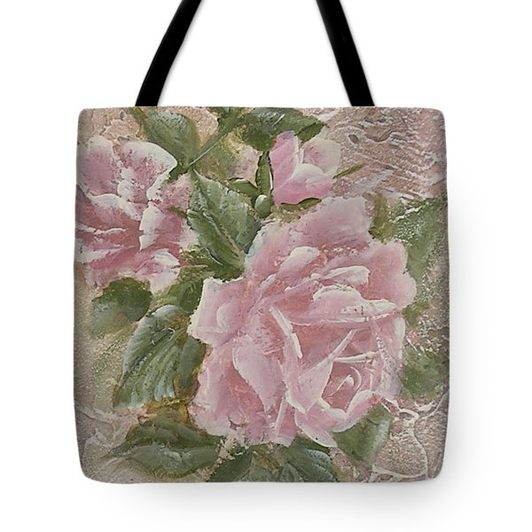 Tote Bag featuring the painting Just Roses by Chris Hobel