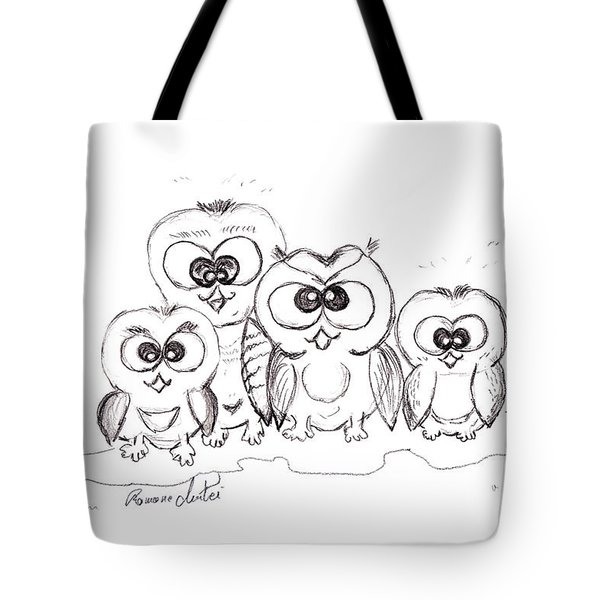Just The Four Of Us Tote Bag by Ramona Matei