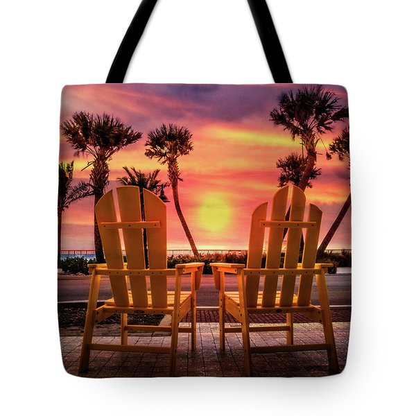 Tote Bag featuring the photograph Just The Two Of Us by Debra and Dave Vanderlaan