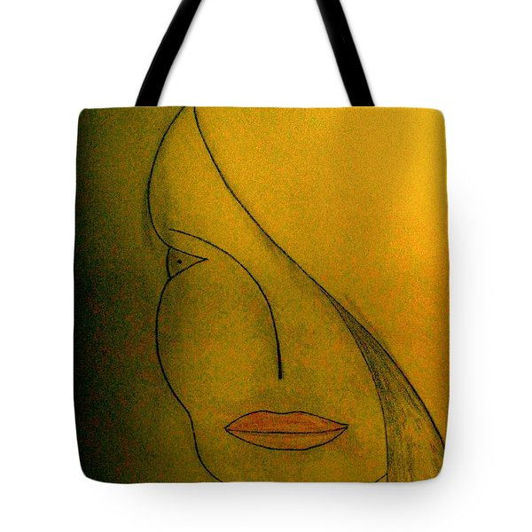 Tote Bag featuring the drawing Just Thinking by Bill OConnor