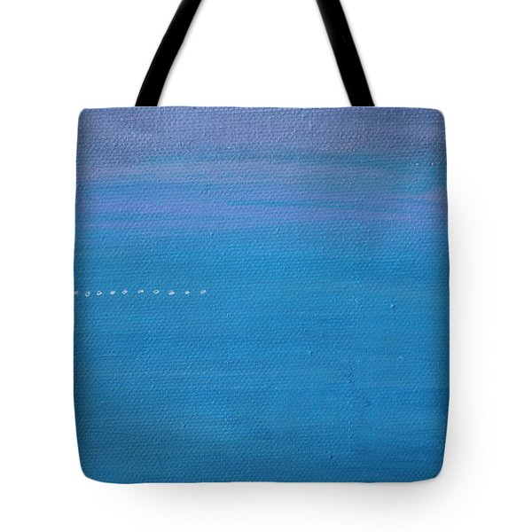Tote Bag featuring the painting Just Under The Surface II by Kim Nelson
