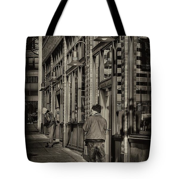 Just Waiting Tote Bag by David Patterson