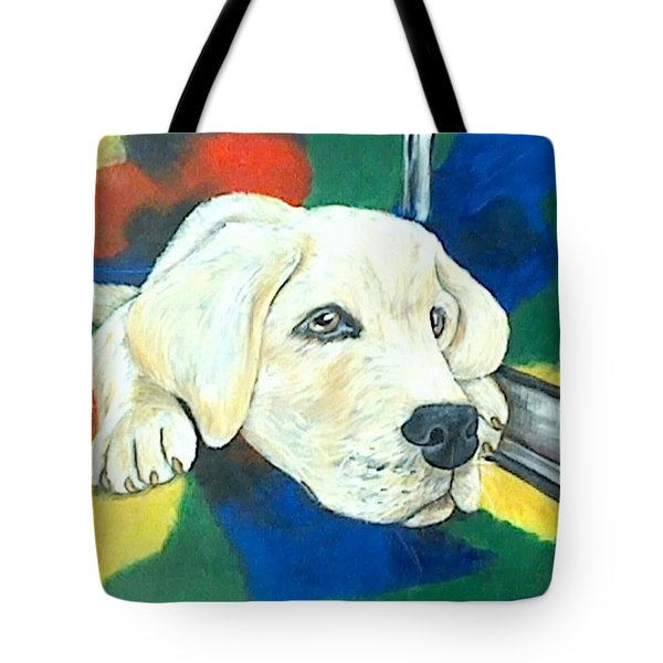 Just Waiting Tote Bag by Jenny Pickens