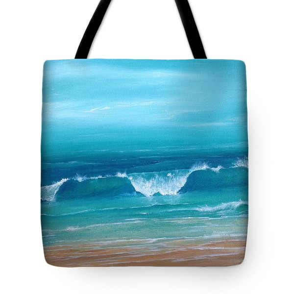 Just Waving Tote Bag by T Fry-Green