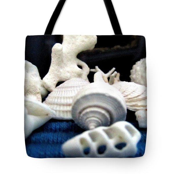 Just White Seashell 1 Tote Bag by Danielle  Parent