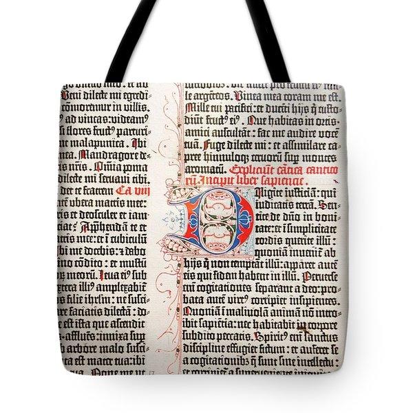 Gutenberg Bible Tote Bag