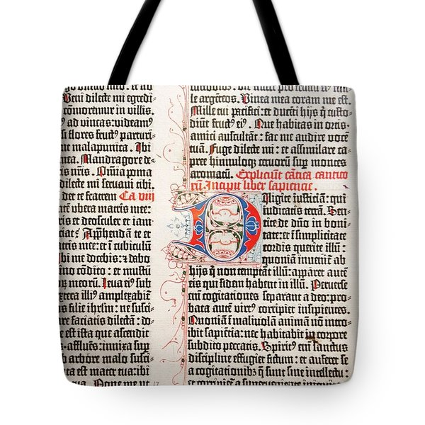 Gutenberg Bible Tote Bag