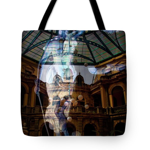 Tote Bag featuring the photograph Justice Is Blind by Al Bourassa