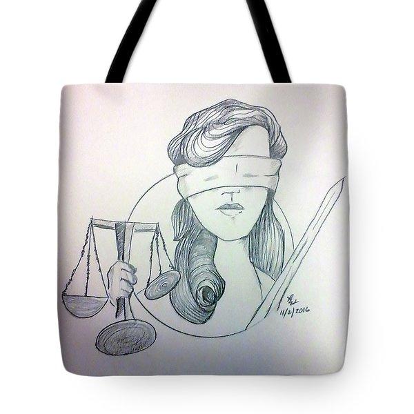 Justice Tote Bag by Loretta Nash