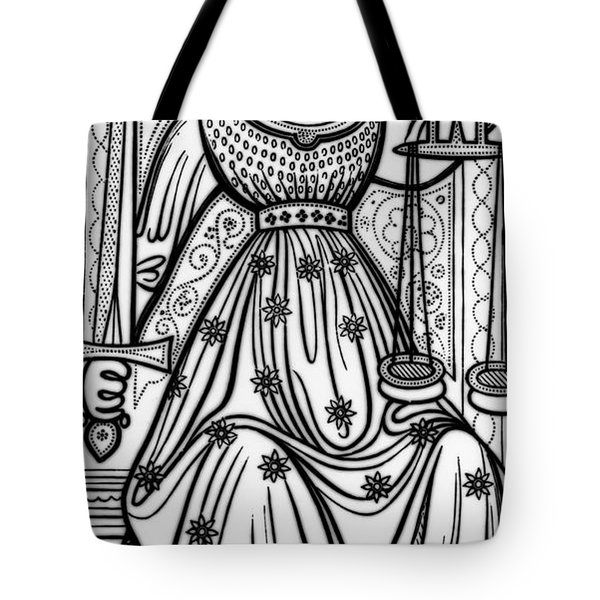 Justice Tarot Card Tote Bag