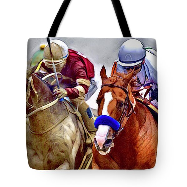 Justify In The Lead Tote Bag