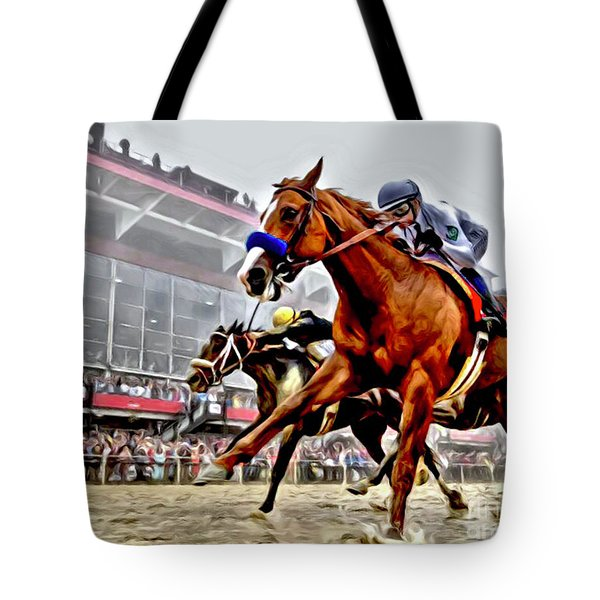 Justify Wins Preakness Tote Bag