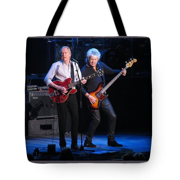 Tote Bag featuring the photograph Justin And John In Concert 2 by Melinda Saminski