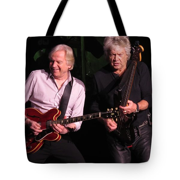 Tote Bag featuring the photograph Justin And John In Concert by Melinda Saminski