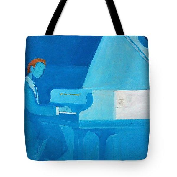 Justin Levitt Steinway Piano Blue Tote Bag