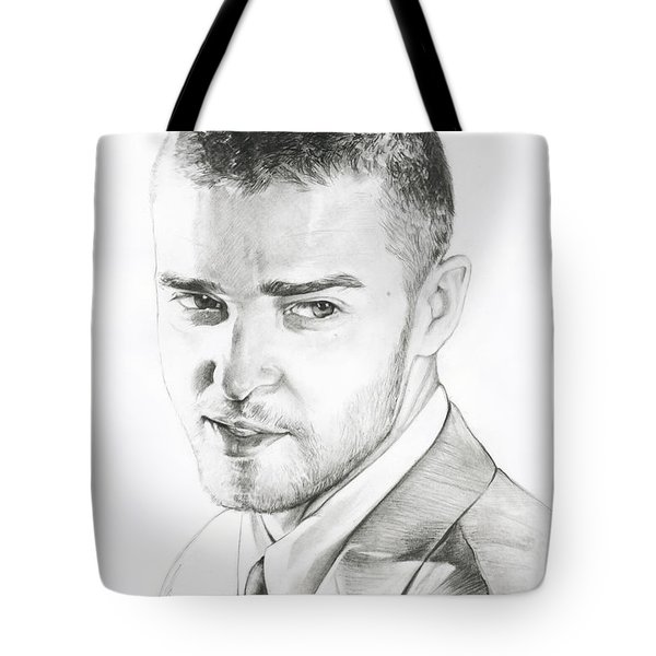Justin Timberlake Drawing Tote Bag