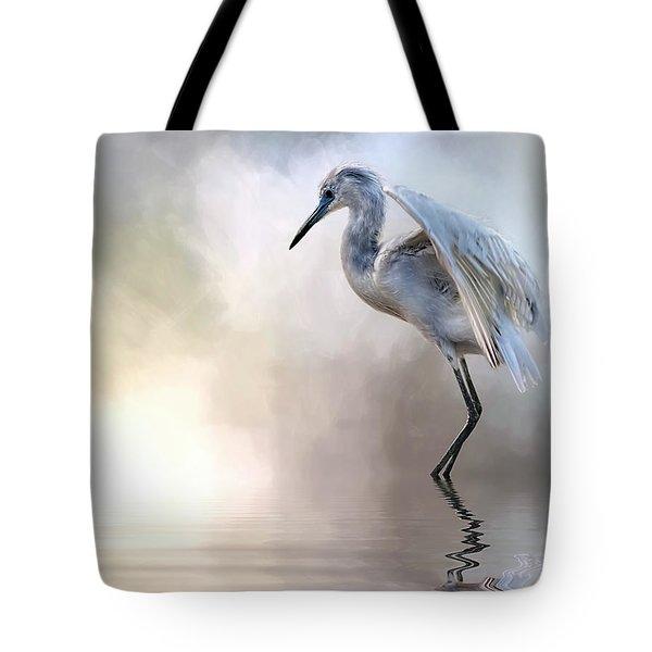 Juvenile Heron Tote Bag by Cyndy Doty