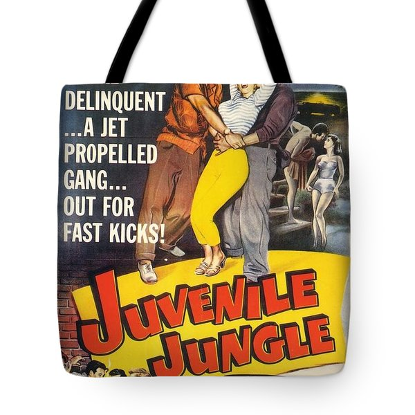 Tote Bag featuring the digital art Juvenile Jungle by Reinvintaged