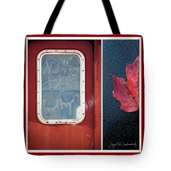 Juxtae #14 Tote Bag by Joan Ladendorf