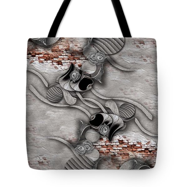 Juxtaposed Compilation Constructed Tote Bag