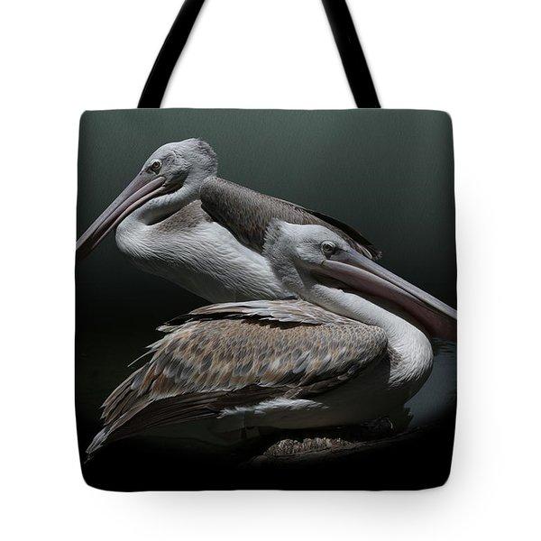 Juxtaposition - Pelicans Tote Bag
