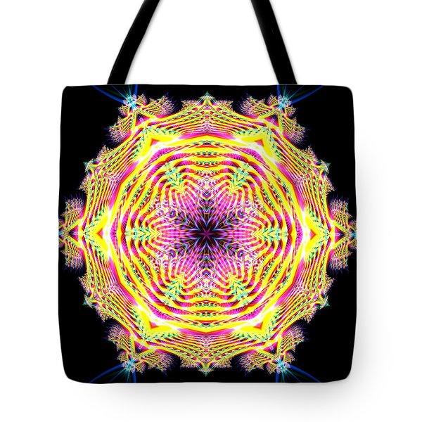 Tote Bag featuring the digital art Jyoti Ahau 112 by Robert Thalmeier