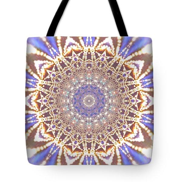 Tote Bag featuring the digital art Jyoti Ahau 14 by Robert Thalmeier