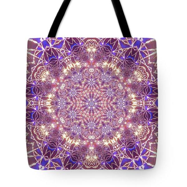 Tote Bag featuring the digital art Jyoti Ahau 15 by Robert Thalmeier