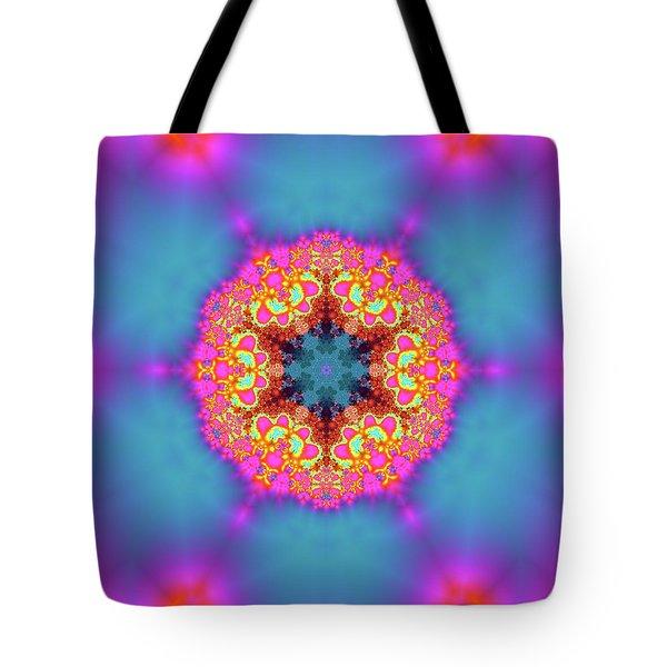 Tote Bag featuring the digital art Jyoti Ahau 192 by Robert Thalmeier