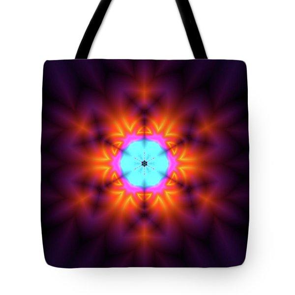 Tote Bag featuring the digital art Jyoti Ahau 216 by Robert Thalmeier