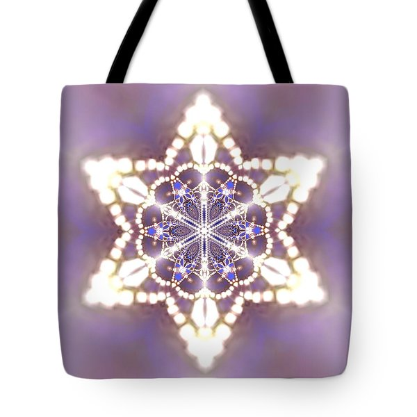 Tote Bag featuring the digital art Jyoti Ahau 27 by Robert Thalmeier
