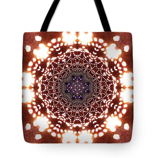 Tote Bag featuring the digital art Jyoti Ahau 46 by Robert Thalmeier