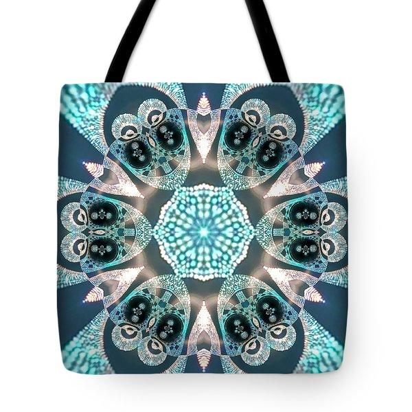 Tote Bag featuring the digital art Jyoti Ahau 59 by Robert Thalmeier
