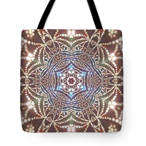 Tote Bag featuring the digital art Jyoti Ahau 6 by Robert Thalmeier