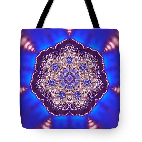 Tote Bag featuring the digital art Jyoti Ahau 8 by Robert Thalmeier