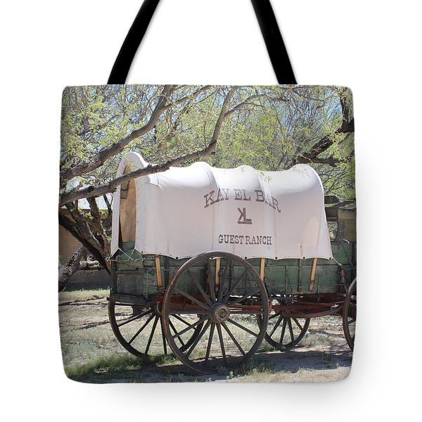 K L Bar Wagon Tote Bag