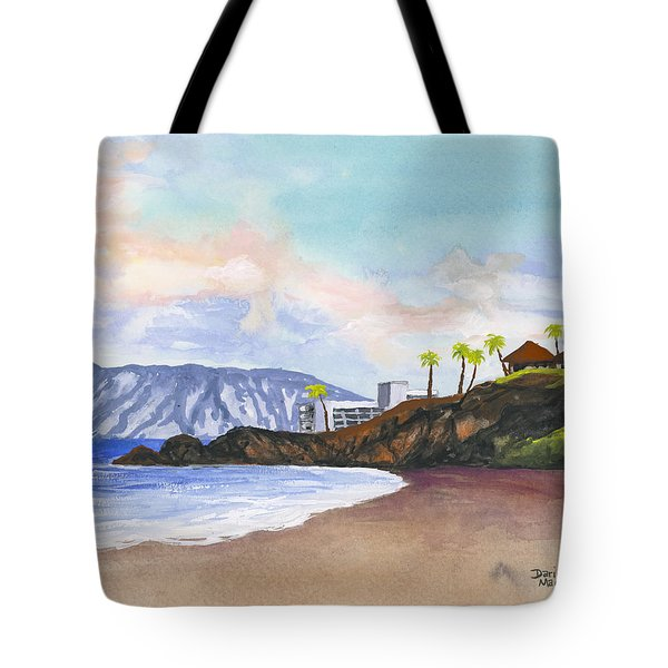 Tote Bag featuring the painting Kaanapali Beach by Darice Machel McGuire